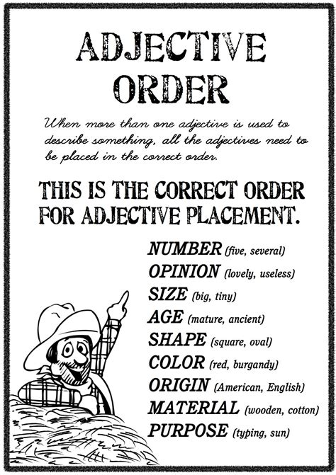 If You Have More Than One Adjective To Describe A Noun, Is There Is A Specific Order You Put