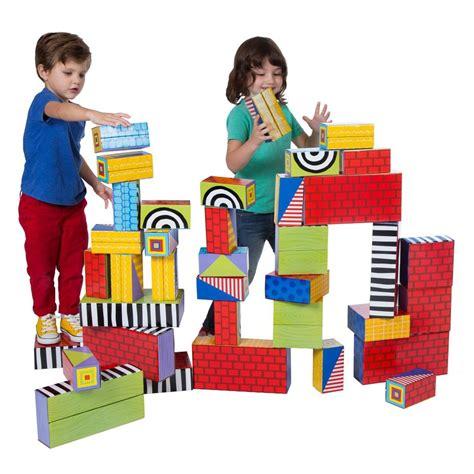 big stack cardboard blocks building blocks by alex toys 102   sq 18CW Big Stack Blocks product in use1