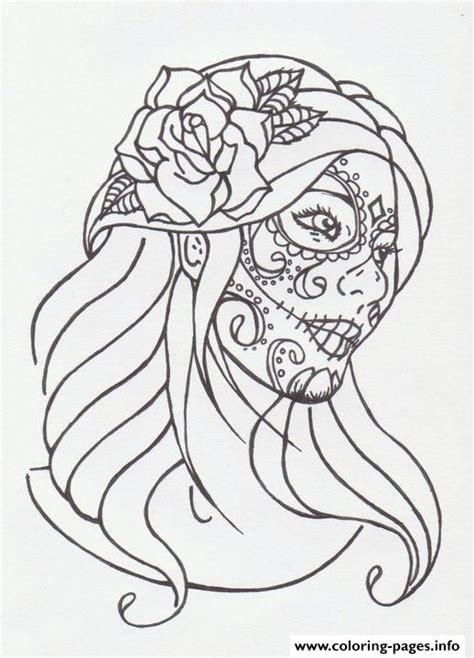 print sugar skull girl  avengedginge dmo coloring