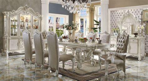 acme  versailles large formal dining room set