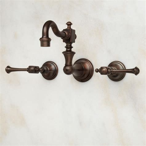 Vintage Wall Mount Faucet by Vintage Wall Mount Bathroom Faucet With Lever Handles