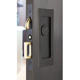 emtek pocket door hardware emtek 2113us10b rubbed bronze 7 1 4 quot height keyed