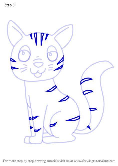 learn   draw  cartoon cat cartoon animals step