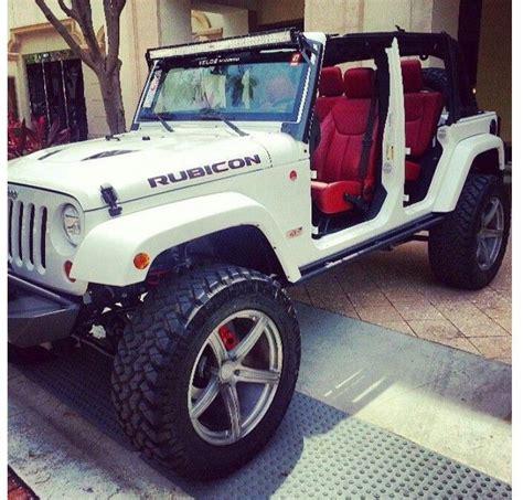 jeep red interior velos wheels jeep rubicon 10th anniversary jeeps