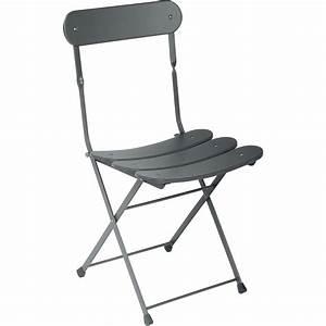 Chaise De Jardin En Fer : chaise de jardin en acier cassis fer ancien leroy merlin ~ Teatrodelosmanantiales.com Idées de Décoration