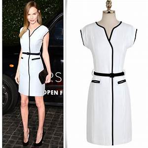 Free Shipping White & Black Casual Business Wear Office ...