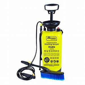 8l Manual Pressure Washer Portable Pump Action Jet Wash