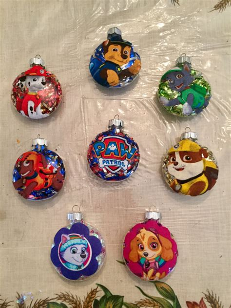 handmade paw patrol christmas ornaments  choice