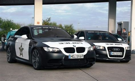 police wrapped bmw   audi  spotted