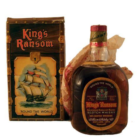 king  ransom   world blended whisky  box