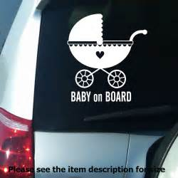 Funny Baby On Board Car Decal