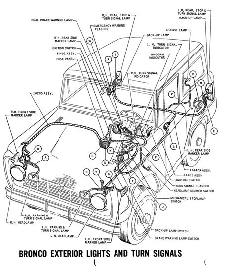 Early Bronco Ignition Switch Wiring Diagram by 1971 Bronco Wiring Diagrams Ford Truck Fanatics