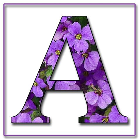 purple flowers  scrapbook alphabet letters  jpg png flower alphabet purple flowers