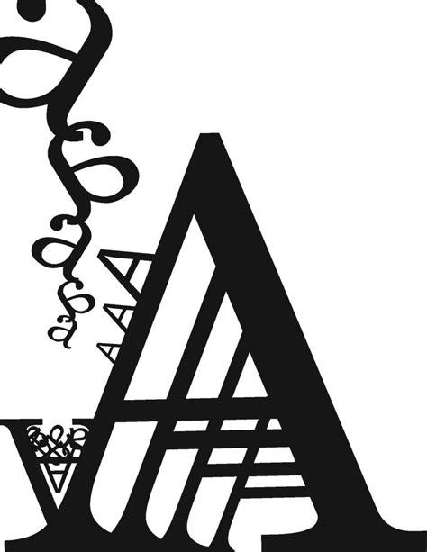 the letter quot a quot typography aqdesignz