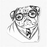 Pug Coloring Pages Pugs Printable Drawing Dog Harry Print Puppy Cartoon Christmas Colouring Cute Sheets Pugger Outline Adults Decal Puppies sketch template