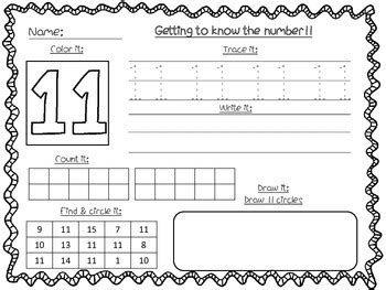 number recognition worksheets 11 20 by fables from my kitchen table