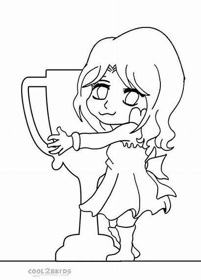 Chibi Coloring Pages Printable Cartoon Cool2bkids Anime