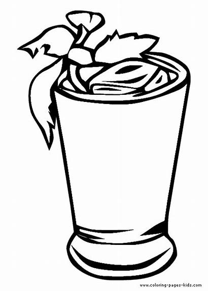 Coloring Pages Drinks Drink Tea Iced Printable
