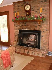 Hometalk Painted Brick Fireplace-Farmhouse Inspiration