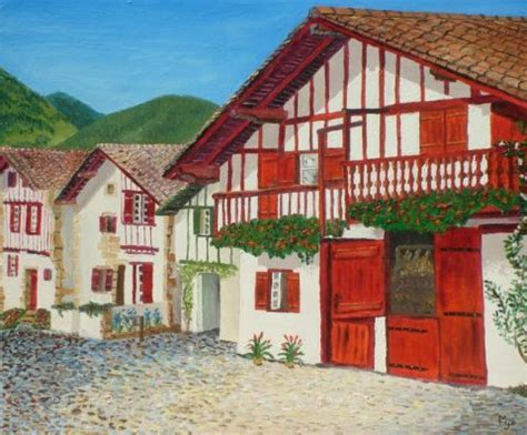 chambre d hote ainhoa maison basque peinture josiane