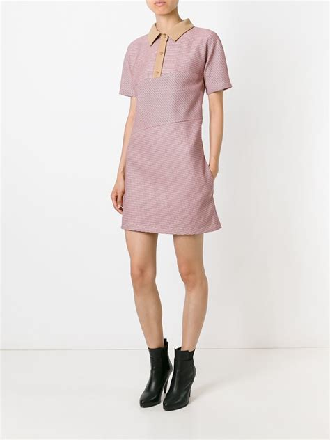 Carven Polo Dress in Red | Lyst