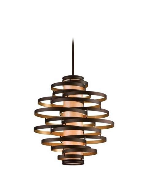 corbett vertigo small pendant light iron
