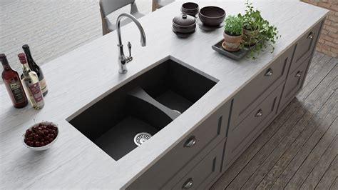 granite composite undermount double bowl kitchen sink