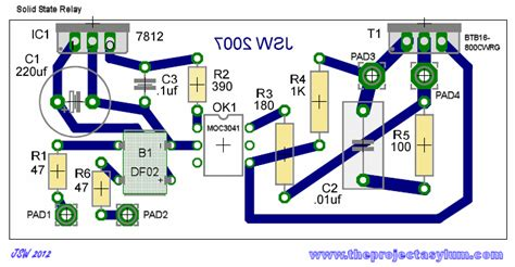 Solid State Triac Relay Schematic Board Layout