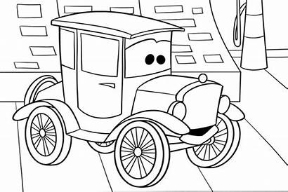Coloring Cars Pages Disney Lizzie Mack Pixar
