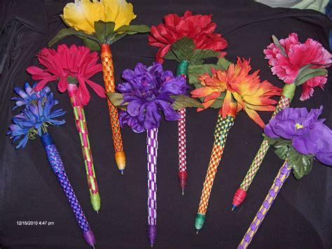 Floral Ribbon Pens I Make & Often Sell. Love Making These