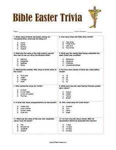 Free Printable Bible Easter Trivia