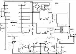 Complete Circuit Diagram Of The 12v  1 5kva Inverter