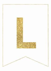 gold free printable banner letters letras con disenos With letter banner maker