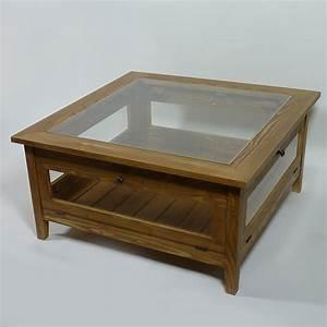 Table Basse Bois Et Verre : table basse bois et verre table basse ovale design maisonjoffrois ~ Teatrodelosmanantiales.com Idées de Décoration