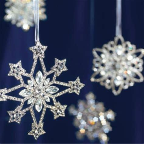 crystal snowflake ornaments traditional christmas