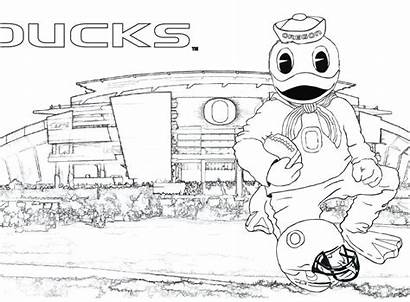 Coloring College Pages Printable Football Getcolorings