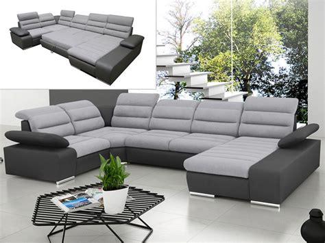 canapé panoramique tissu canapé d 39 angle panoramique convertible gris ou bleu boileau