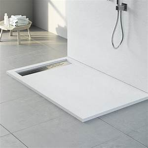 Receveur Salle De Bain : receveur de douche 120 x 80 cm 200 x 100 cm composite blanc stone ~ Melissatoandfro.com Idées de Décoration