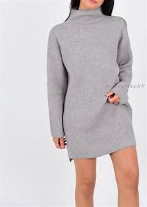 Robe pull grise outfitbook for Robe fourreau grise