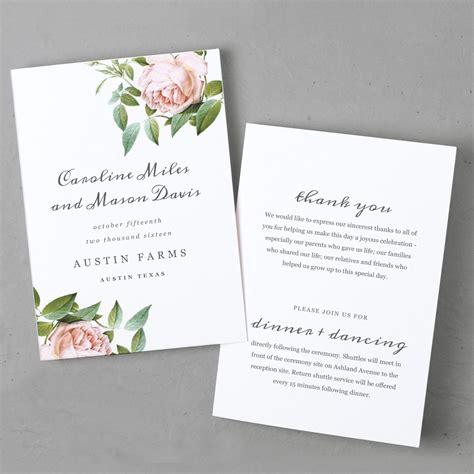 printable wedding program template instant