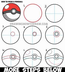 How to Draw a Pokeball from Pokemon - Easy Step by Step ...