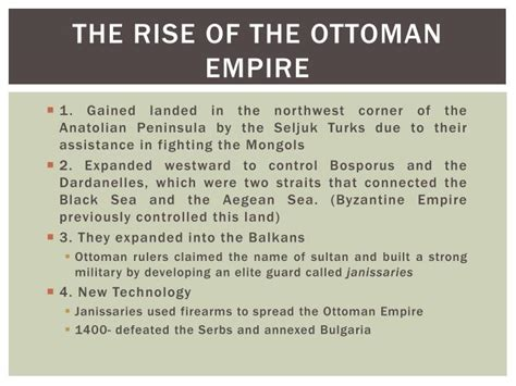 The Rise Of The Ottoman Empire by Ppt Ottoman Empire Powerpoint Presentation Id 1973206