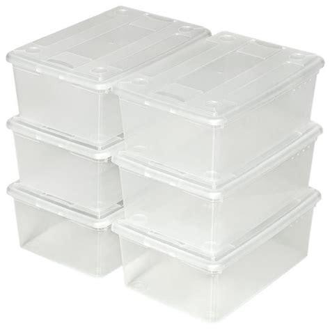 ikea boite plastique de rangement 6 boites de rangement 224 chaussures plastique empilables bac de rangement transparent avec