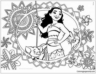 Moana Pages Coloring Printable Coloringpagesonly Sheets Disney