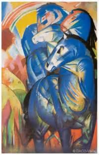 blaue küche franz marc der turm der blauen pferde 1913