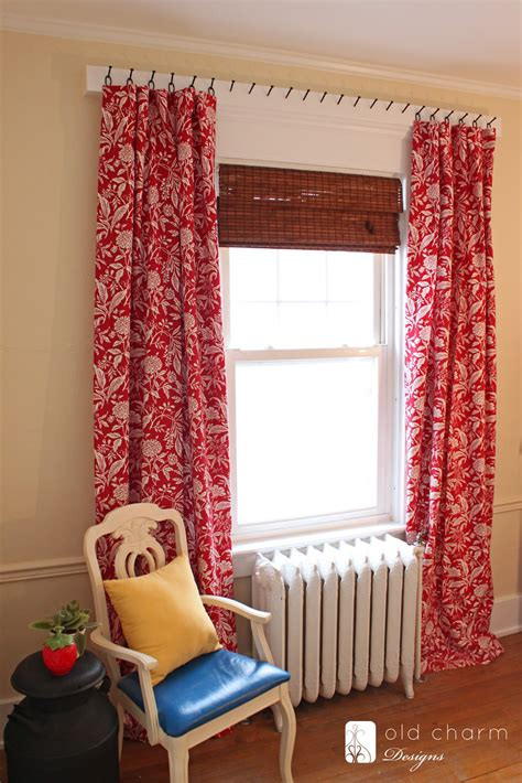 curtains hung  forged nails diy curtain rod