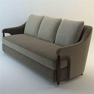 3d model baker hermano sofa for Baker furniture sectional sofa