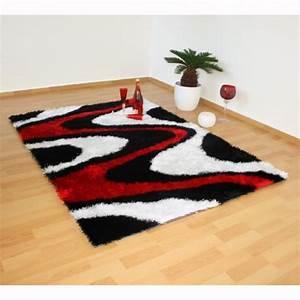 tapis shaggy 3 coloris noir blanc rouge 80 x 15 achat With tapis shaggy avec canapé gonflable avis