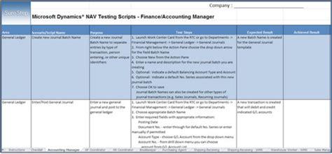 test script template microsoft excel test script template bernac