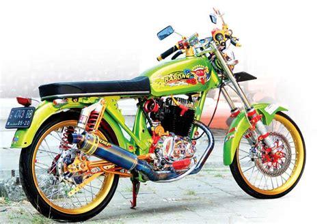 Modifikasi Gl 100 Racing by Honda Gl 100 82 Pekalongan Kepincut Era Modif